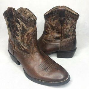 Ariat Billie Cowboy Bootie Brown Leather ATS Zip